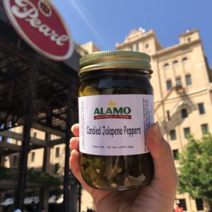 Jar of Candied Jalapeno Peppers from Alamo