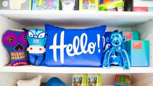 Feliz Modern POP Hello Pillow