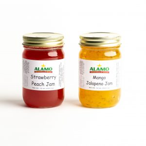 Alamo Gristmill Strawberry Peach and Mango Jalapeno Jam