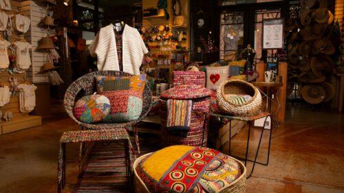 Ten Thousand Villages - textile furniture