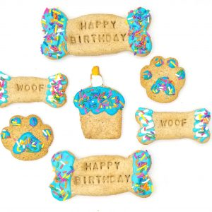 PAWSitively Sweet Bakery - Blue Birthday Dog Cookies