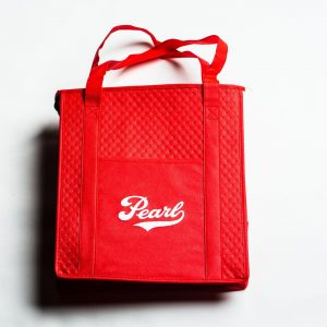 Pearl Farmers Market - Red Insulated Tote