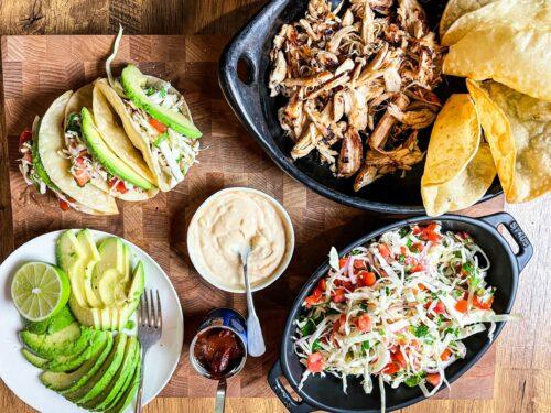 chicken tacos spread : nancy