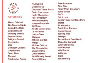 Pearl Farmers Market: Saturday Vendors