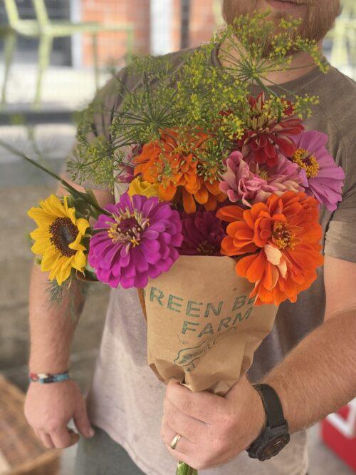 flower bouquet- green bexar farm